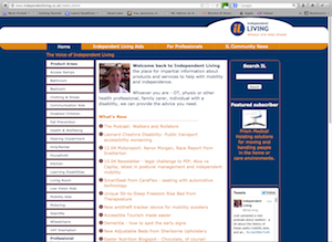 screenshot of Independent living website